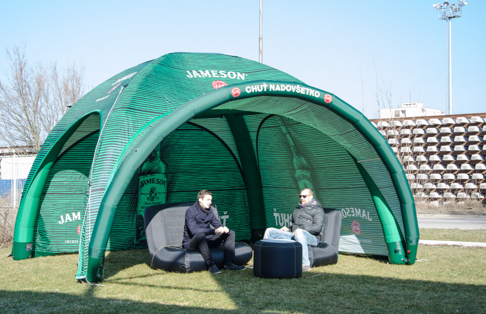 Square Jameson event tent AXION4EVENT