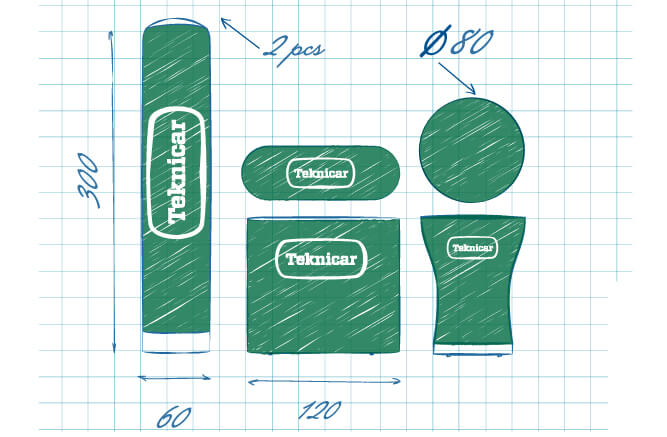 Design sketch of inflatable sproducts AXION4EVENT